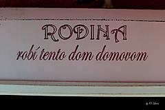 Tabuľky - Kriedová tabuľa s vešiakmi - RODINA v ružovom - 11509268_