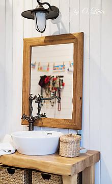 Zrkadlá - Zrkadlo masívne - Dubové, Natural - olej, kartáč - 11511865_