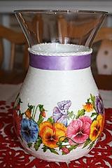 Dekorácie - Váza - kvety - 11509675_