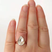 Prstene - Prsteň ružové zlato - 11510617_