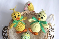 Hračky - Háčkované kuriatko a húsatko - 11509546_