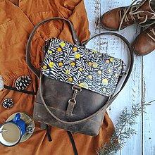 Batohy - Kožený batoh Lara - Berries - 11510597_