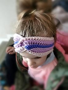 Detské doplnky - Merino čelenka pre dievčatko - 11510548_