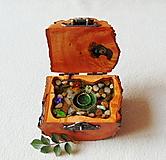 Krabičky - Drevená krabička na prsteň Čarovné polienko - 11511119_