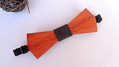 """Doplnky - Pánsky drevený motýlik """" pohoda """" - 11511276_"""