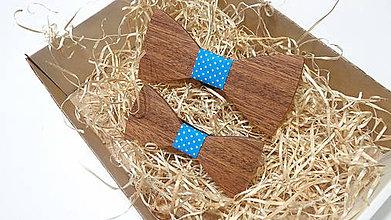 Doplnky - Sada drevených motýlikov otec & syn - 11512356_