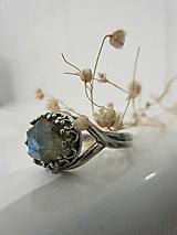 Prstene - Patinovaný s labradoritom - 11512316_