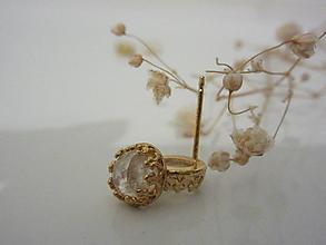Náušnice - Moonstone v zlate - 11512068_