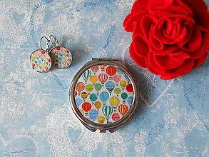 Zrkadielka - Balóniky (zrkadielko + náušničky) - 11511625_