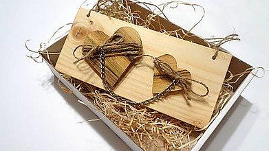 Dekorácie - Valentínske srdiečka natur - závesná dekorácia - 11512216_