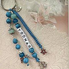 Kľúčenky - Prívesok na kľúče podľa znamenia zverokruhu (Vodnár) - 11510438_