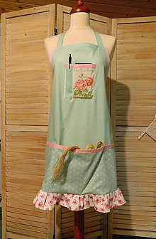 Iné oblečenie - Bavlnená zástera s volánom - 11509577_