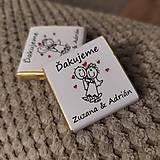 Darčeky pre svadobčanov - Svadobná čokoládka 10 - 11508974_