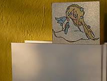Papiernictvo - Anjelik, trblietavá záložka, limitovaná edícia - 11511597_