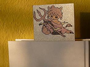 Papiernictvo - Čertík, trblietavá záložka, limitovaná edícia - 11511641_