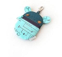 Kľúčenky - Kapsička na slúchadlá Zvieratko technická schéma - 11511399_