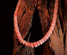 Náhrdelníky - Rodochrozitový náhrdelník - 11510921_