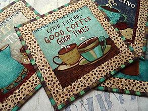 Úžitkový textil - Coffee  Shop No.1 ... prestieranie 4 ks - 11513451_