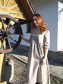 Šaty - Ľanové šaty s nádychom romantiky - 11515106_