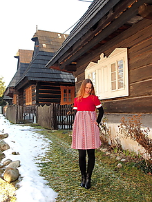 Šaty - Šaty ako z vidieka červené - 11515287_