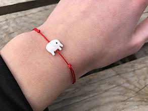 Náramky - Náramok s perleťovým sloníkom - 11514157_