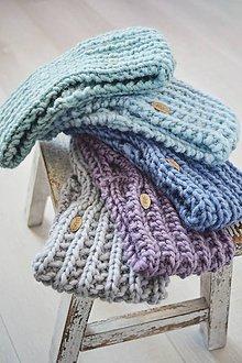 Čiapky - Ručne pletená vlnená čelenka II - 11514952_