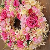 Dekorácie - Veniec  ružový sen - 11514383_