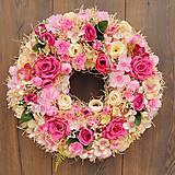 Dekorácie - Veniec  ružový sen - 11514404_