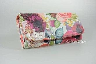 Peňaženky - dámska peňaženka - romantické kvety - 11514713_