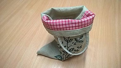 Iné tašky - Taštička so zelenou bylinkovou dekoráciou - 11512572_