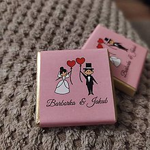 Darčeky pre svadobčanov - Svadobná čokoládka 46 - 11514868_