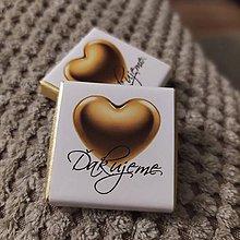 Darčeky pre svadobčanov - Svadobná čokoládka 48 - 11514905_