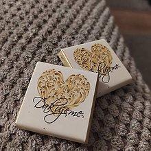 Darčeky pre svadobčanov - Svadobná čokoládka 49 - 11514908_