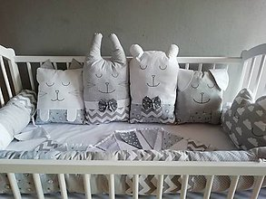 Textil - vankúšiky - DO POSTIEĽKY, DO POSTELE - sivé, biele - 11512983_