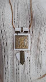 Náhrdelníky - Dlhý náhrdeľník,biely - 11513111_