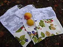 Úžitkový textil - sada nákupných vreciek-lesné plody - 11512623_