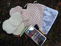 Úžitkový textil - Sada tampónov na odličovanie XL+vrecká - 11512629_