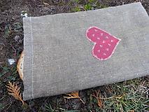 Úžitkový textil - ľanové vrecko ,voskované - 11512640_