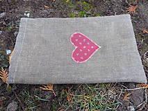Úžitkový textil - ľanové vrecko ,voskované - 11512641_