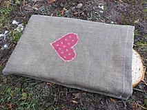 Úžitkový textil - ľanové vrecko ,voskované - 11512642_