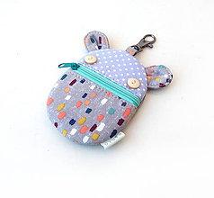 Kľúčenky - Kapsička na slúchadlá Zvieratko má farebné maskovanie - 11513180_