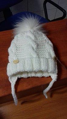 Detské čiapky - Detská pletená čiapka - 11513268_