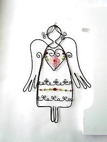 Dekorácie - Anjelik jarný - 11512972_