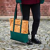 Veľké tašky - Maxi béžovo zelená - 11518014_
