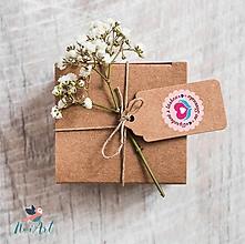 Papier - Nálepky Vyrobené s láskou na Slovensku - 11518351_