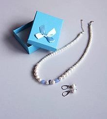 Sady šperkov - Luxusná sada l.- sladkovodné riečne perly, achát - 11518128_