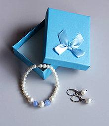 Sady šperkov - Luxusná sada ll. - sladkovodné riečne perly, achát - 11518163_