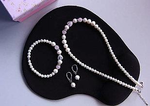 Sady šperkov - Luxusná sada - sladkovodné riečne perly, ruženín - 11518182_