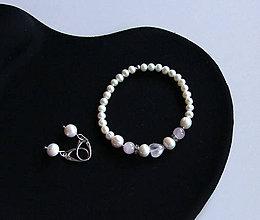 Sady šperkov - Luxusná sada ll.- sladkovodné riečne perly, ruženín - 11518226_