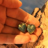 Náušnice - Modré so zlatou - 11515598_